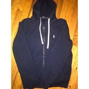 Polo by Ralph Lauren navy blue zip up hoody